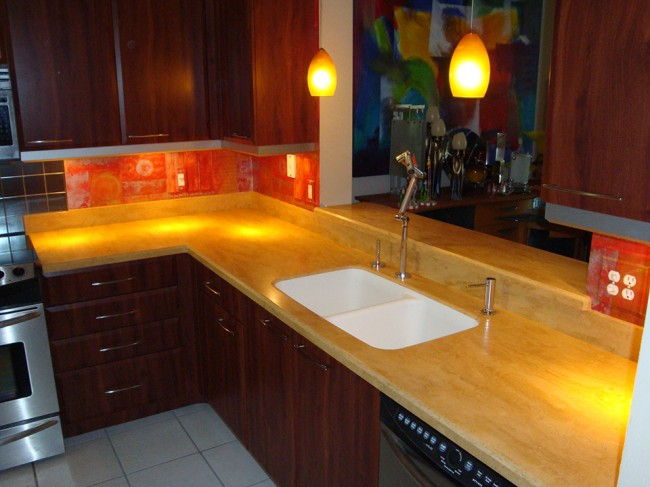 Aztec Gold 171 Beverin Solid Surface Inc