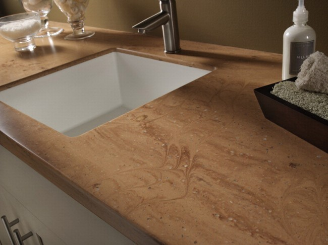 Corian countertops beverin solid surface inc Copper countertops cost